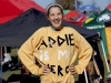 Multiple STA students and alumnae made the trek to Jefferson City, MO to support freshman Addie Coppinger at the Missouri State cross country meet. Gracie Laird shows her support by wearing a sweatshirt that says '€œAddie is my hero.' photo by Katie Donnellan