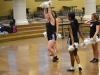 Head dance team captain Katie Daniels demonstrates a new step in their routine during practice Nov. 4. Daniels is the dance team captain along with co-captains Camille Porterfield and Katherine Viviano.