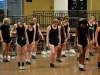 STA varsity dance team lines up to start their routine during practice Nov. 4. The team elected senior Katie Daniels to be the head captain and seniors Katherine Viviano and Camille Porterfield to act as co-captains.