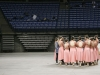 The STA dance team talks before their first dance at the state competition Feb. 20. photo by Anna Hafner