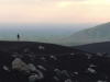 A man walks along the side of the Cerro Negro volcano in Nicaragua May 25, 2014. photo by Maddy Medina