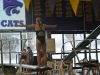 Senior Sophia Prochnow has also qualified for state. She qualified at the STA vs. Sion Senior Night meet Jan. 26.  photo by Libby Hutchinson
