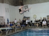 Armstrong does a front dive. This specific dive against Sion meet was a six-dive meet. photo by Libby Hutchinson