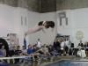 Freshman Caroline Armstrong qualified to dive at State which is Feb. 20. She preforms a twist dive Jan 26. against the Sion dive team. photo by Libby Hutchinson