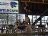 Prochnow preforms a back dive at the Blue Springs swim and dive meet Jan. 23. photo by Libby Hutchinson