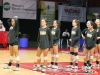 STA volleyball players practice before a game at the volleyball state championship  in Cape Girardeau, Missouri on Oct. 28. photo courtesy of Catelyn Campbell