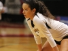 Junior Isabel Flores prepares to play defense at the volleyball state championship  in Cape Girardeau, Missouri on Oct. 28. photo courtesy of Catelyn Campbell