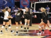The STA volleyball team celebrates at the volleyball state championship  in Cape Girardeau, Missouri on Oct. 28. photo courtesy of Catelyn Campbell