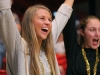 Junior Morgan Richards cheers for the volleyball team at the volleyball state championship  in Cape Girardeau, Missouri on Oct. 28. photo courtesy of Catelyn Campbell