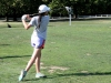 Junior Ellie Shorter practices her form during golf practice Sept. 10 at Heart of America Golf Course. After losing three varsity golfers Jackie McGee, Emily McCann and Alex Jackson to graduation last year, tryouts began with a disappointing low turnout.