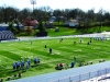 By Claire Jefferson: The Rockhurst Field during practice on April 12th. At the beginning of the 2013 lacrosse season, the Hawklets left the Missouri State Lacrosse Association, or MSLA, and joined the Lacrosse Association of Kansas City region, or LAKC.  (Scene Setter)