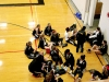 The STA track team meets together in the Goppert Center before they prepare for their home meet on April 5. STA won their tri-meet against Sion and University Academy. by Giggy Reardon