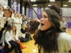 Senior Gabby Keller yells a cheer with the STA student section at the varsity basketball game at Notre Dame de Sion High School Jan. 29. Keller is vice president of Spirit Club. photo by Kat Mediavilla