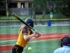 Junior Kara Sarson swings at the ball at the game Aug. 27.