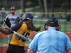 FreshmanLindsey  Blaich swings at the ball on Sept. 23.