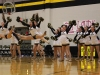 The STA dance team preforms during halftime of the varsity basketball game against Sion. In addition to their dance, the STA dancers celebrated senior night Feb. 24. photo by Kat Mediavilla