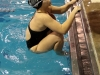 Junior swimmer Bailey Briscoe competes in the Senior Night meet. photo by Kate Scofield