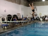 Senior diver Sophia Prochnow competes in a meet against Sion during swim and dive Senior Night. photo by Kate Scofield