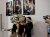 Senior swimmers Mary Hilliard and Darby Pedersen and senior diver Sophie Prochnow pose for a picture during STA Senior Night against Notre Dame de Sion High School. The meet was held Jan. 26 at the Red Bridge Famil YMCA. photo by Kate Scofield
