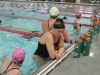 Senior Lauren Zastrow catches her breath at swim team practice Nov. 19 at Longview Recreation Center. photo by Meg Thompson