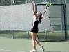 Junior Hannah Bredar serves the ball during a tennis match against St. Joseph Central High School Sept. 25 at Homestead Country Club. The stars won 7-2.