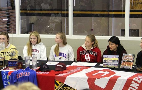 Six seniors sign to college for sports