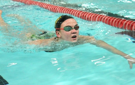 Sophomore breaks swim records