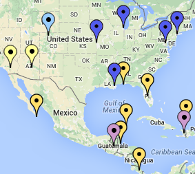 Interactive map: spring break destinations
