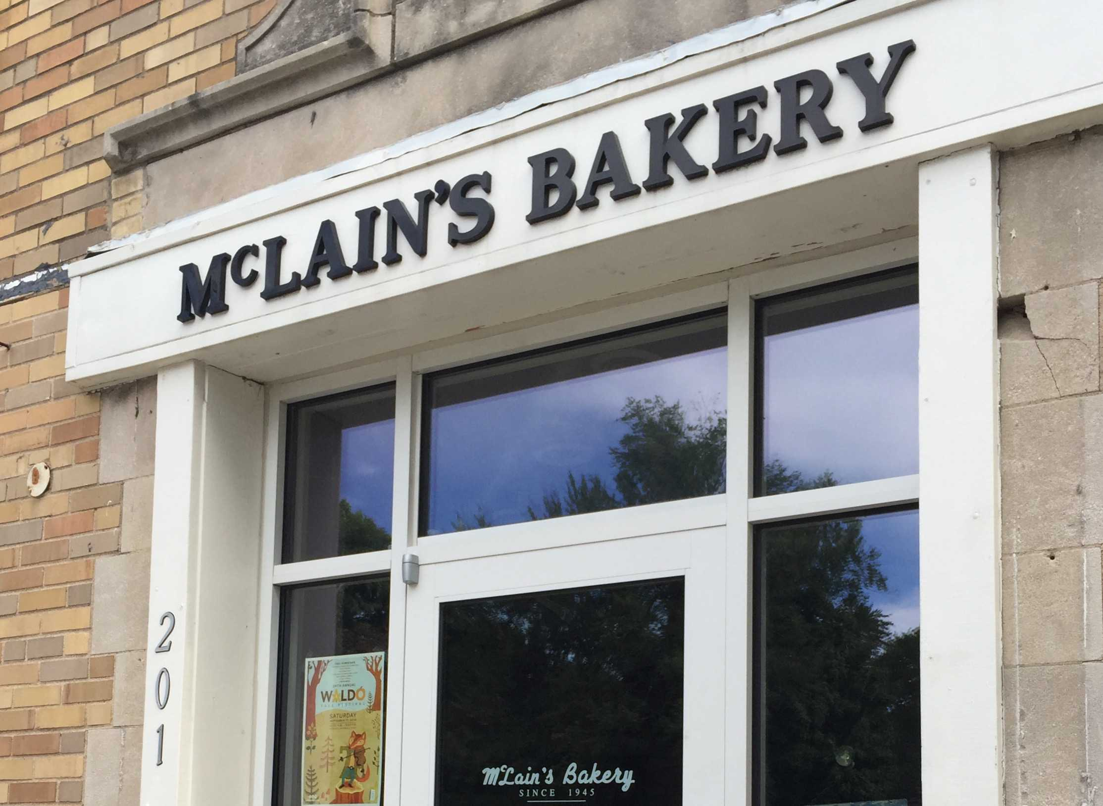 The entrance to McLain's Bakery, the third of three bakeries reviewed. photo by Sophy Silva
