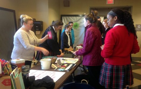 Peer helpers hold holiday mart