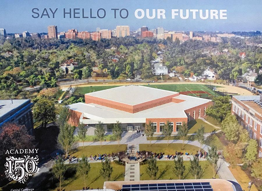 A graphic from the Academy 150 Capital Campaign introduces the campus projects, emphasizing the updates to the Goppert Center. Informational pamphlets are expected to be mailed out in the coming weeks. graphic courtesy of Nan  Bone