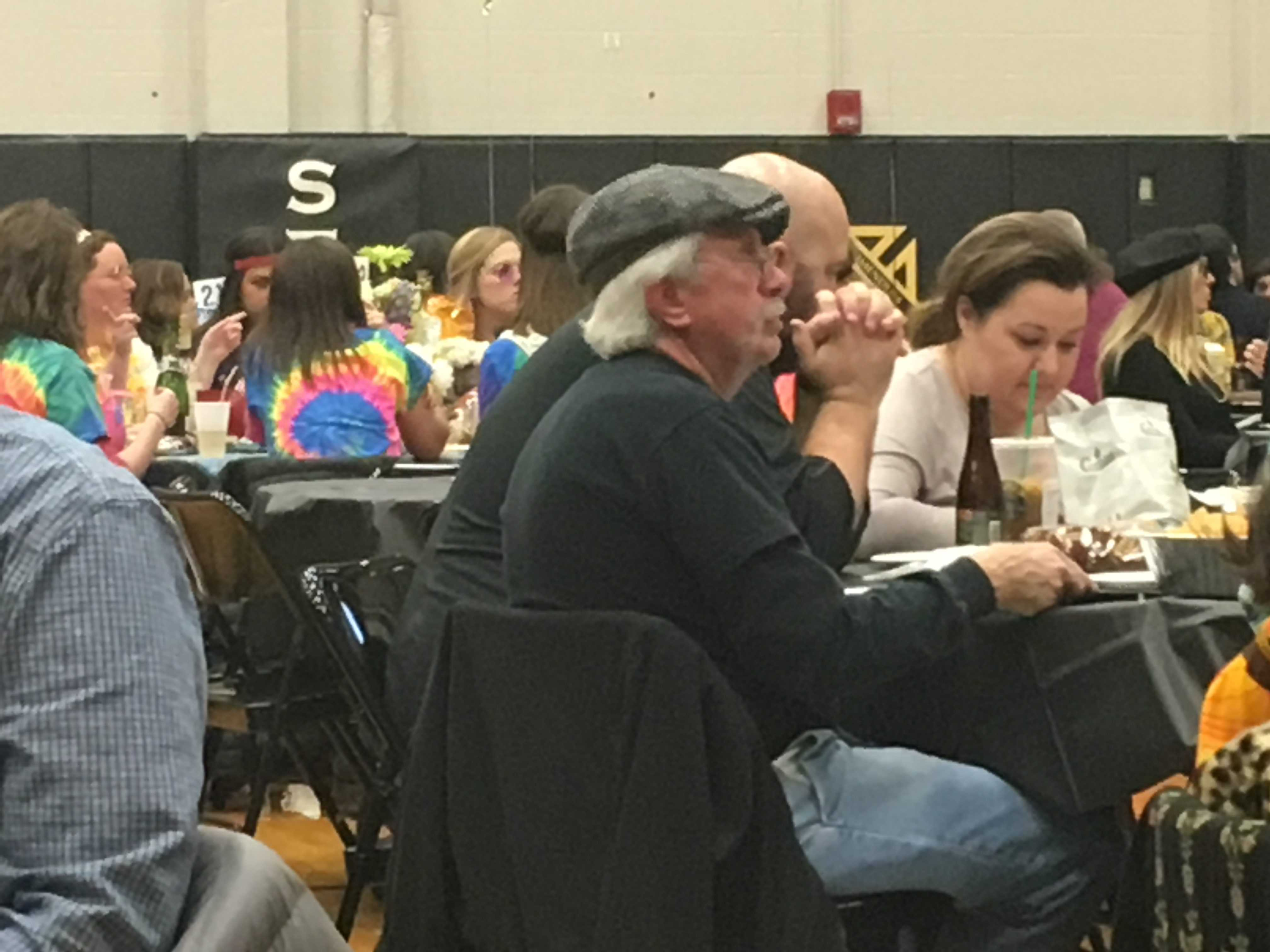 History teacher, Mr. Egner, participates in the annual Trivia Night. photo by Katie Donnellan