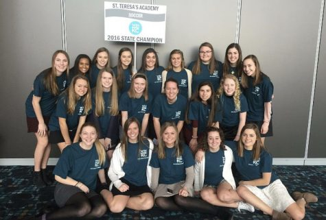 Varsity soccer team attends luncheon in honor of their State Championship victory