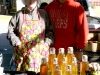 The Stephen's Orchard stand features homemade honey and various beeswax products. Stephen's Orchard & Apiary is a small family owned orchard and apiary that was established in 1995. Walt and Karlon Stephens sell their products at the City Market every weekend.  photo by Kate Scofield