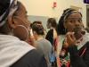 Junior Savaria Goodman applys makeup on opening night of Student Productions April 24. photo by Bridget Jones