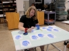Senior Caterina DeRousse works with her current art piece in the art room Sept. 13. photo by Sophie Sakoulas