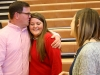 Senior Maggie Hodes gets a kiss on her head by her father, Billy Hodes, after she read her letter to about lobbying to Congressman Emanuel Cleaver. photo by Violet Cowdin