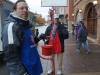 Salvation Army volunteers Todd Lowenstein, left, and Hal Lowenstein, his father, ring bells at the Country Club Plaza during Black Friday Nov. 27 photo by Violet Cowdin