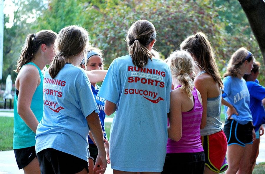 One relay team gets ready to compete in the annual cross country Twinkie relay on Thursday October 8. photo by Libby Hutchison