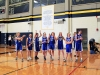 Members of a junior CYO team celebrates as one of their teammates wins a game of knockout at their first practice Nov. 30 in the Goppert Center. The team practiced in preparation of their first game Dec. 3.  photo by Sophie Sakoulas