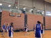 The CYO team anticipate the rebound during a scrimmage at their first practice Nov. 30 in the Goppert Center. The team practiced in preparation of their first game Dec.3. photo by Sophie Sakoulas