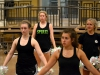 Sophomore Allyson Pribyl, from left, senior Katherine Viviano, sophomore Alison Munoz and junior Alex Amey run through a dance routine during practice Nov. 5. Viviano is a co-captain for the dance team along with senior Katie Daniels.