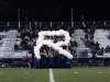 "The STA Dance Team holds a ""R"" during their half time performace at Rockhurst Highscchool. The team dances annually at Rockhurst"
