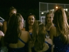 The STA dance team gathers before performing their annual dance at a Rockhurst High School footbal game Oct. 14. photo by Cassie Hayes