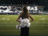 STA dance team member, senior Nicole Maus, prepares to perform the annual half-time dance at a Rockhurst High School football game Oct. 14. photo by Cassie Hayes