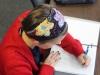 Senior Erin Burroughs works on her math homework Monday Sept. 28. Burroughs has had dyslexia her entire life. photo by Kat Mediavilla