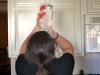 A photo illustration of a student drinking. photo by Hannah Bredar