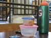 STA students sometimes bring tupperware and waterbottes that they can reuse for their lunch Feb. 19. photo by Maddy Medina