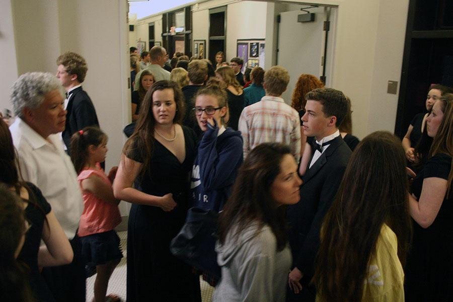Students and family members fill the M&A building after the choir's performance at the Fine Arts Showcase April 27. photo by Cassie Hayes