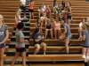 STA athelets gather in the gym Aug 29 for Olympic athlete Courtney Frerichs' talk. photo by Cassie Hayes